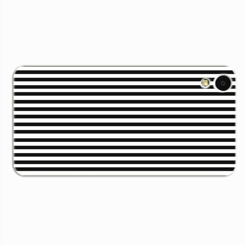 PC Plastic Case for HTC Desire 820 black-and-white