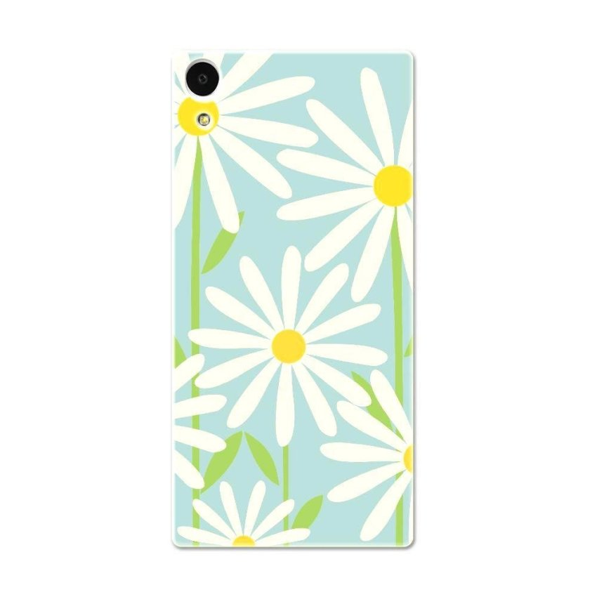 PC Plastic Case for Sony Xperia Z1 L39h blue and white