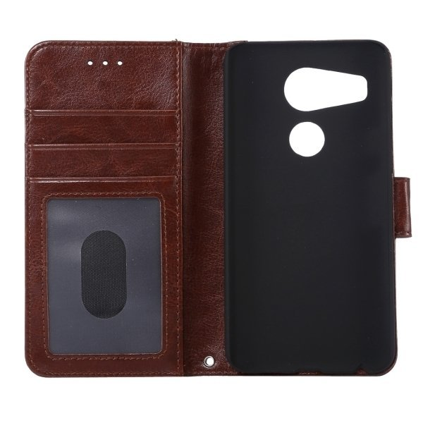 PC PU Flip Leather Cross Texture Horizontal Cover with Card Slots Wallet Holder for Google Nexus 5X (Coffee) (Intl)