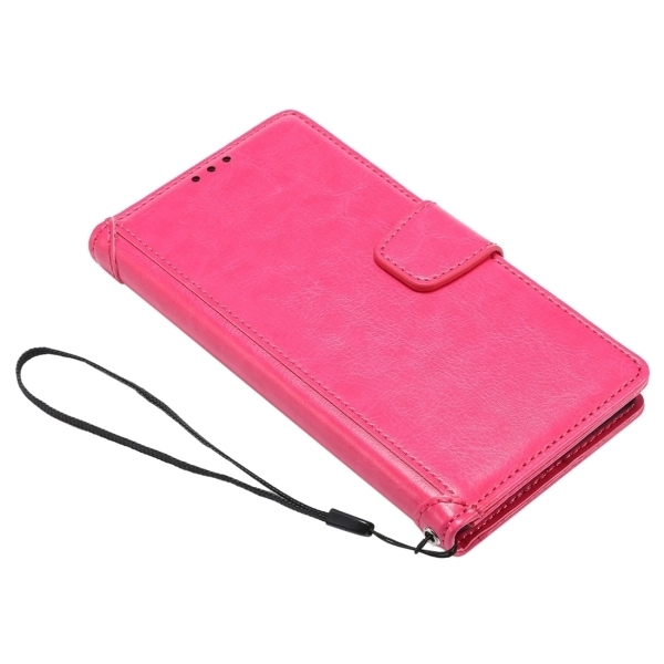 PC PU Flip Leather Horizontal Cover with Card Slots Wallet Holder for Google Nexus 5X (Magenta) (Intl)