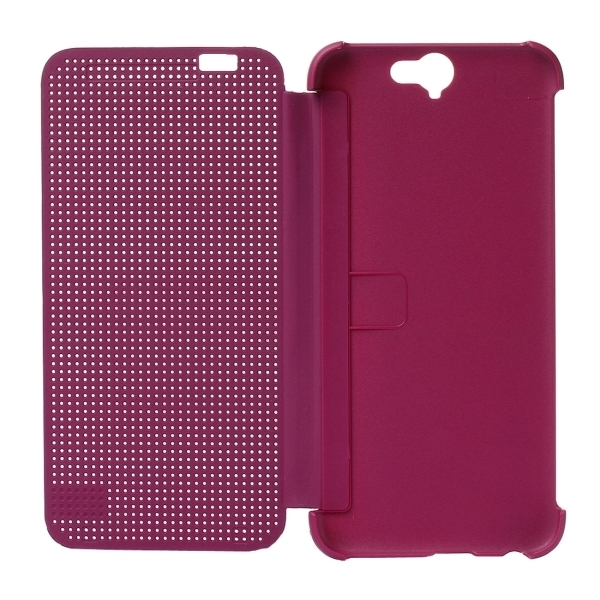PC Silicone Horizontal Flip Hard Cover with Sleep / Wake-up Function for HTC One A9 (Purple) (Intl)