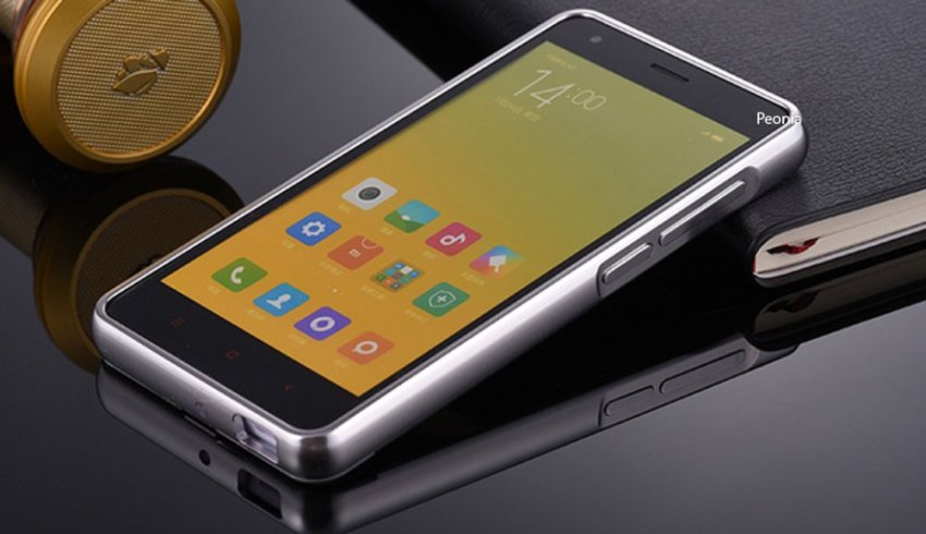Peonia Xiaomi Redmi 2S / Redmi 2 Prime Metal Aluminium Bumper with Polycarbonate Backcase  - Silver + Bonus Tempered Glass