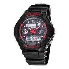 Perfect S SHOCK 2016 New SKMEI Luxury Brand Men Military Sports Watches Digital LED Quartz Wristwatches Rubber Strap Relogio Masculino (Black) - Intl