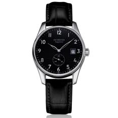 Perfect Switzerland Ochstin Genuine Men Classic Business Really Belt Quartz Watch Male Watch Steel Waterproof Watch Calendar (Silver) - Intl