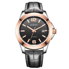 Perfect Switzerland Ochstin Genuine Men Classic Business Really Belt Quartz Watch Male Watch Waterproof Watch Calendar (Gold) - Intl