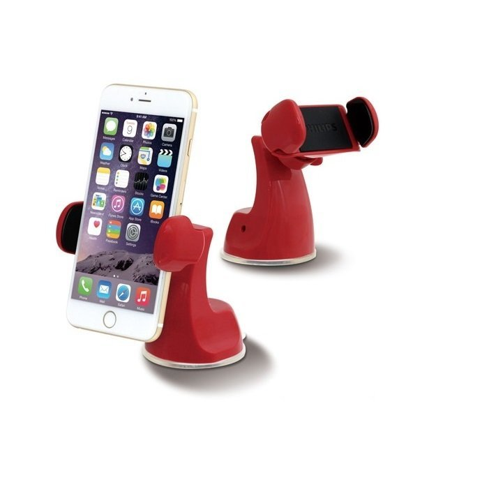 Philips Phone Mount Auto Grip Arms Universal DLK23012A - Merah