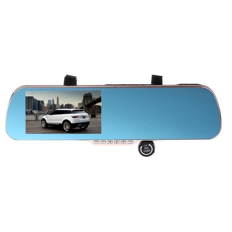 PHISUNG HD-Q7 5.0 inch Touch Screen Android 4.0.3 GPS Navi E-dog Dual Lens Rearview Mirror Car Camera (Blue)