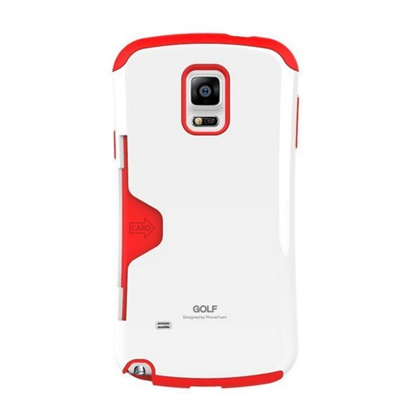 phonefoam Golf Pastel Card Pocket Bumper Case for Galaxy S6 Edge White Red