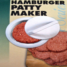 Plastic Stuffed Burger Press Hamburger Meat Beef Grill BBQ Maker Mould Party