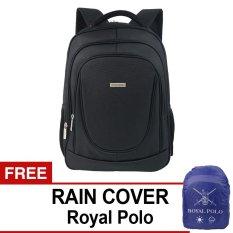 Polo Club 9191 Backpack - Hitam + Gratis Rain Cover Royal Polo