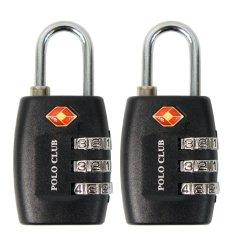 Polo Club Combination Lock TSA 335 Paket 2 - Hitam