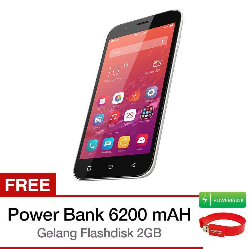 Polytron Zap6 4G500 - 16 GB - Hitam + Gratis PowerBank + Gelang FlashDisk