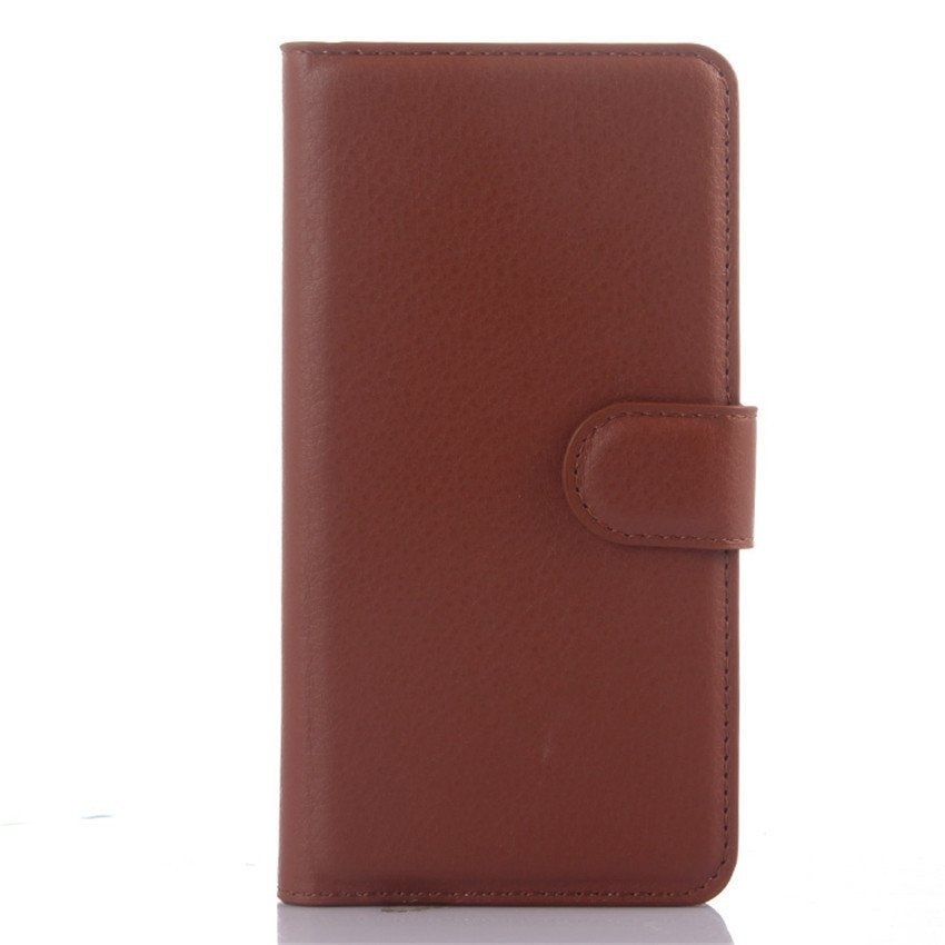 PopSky Wallet Case for Xiaomi Mi4i (Brown)