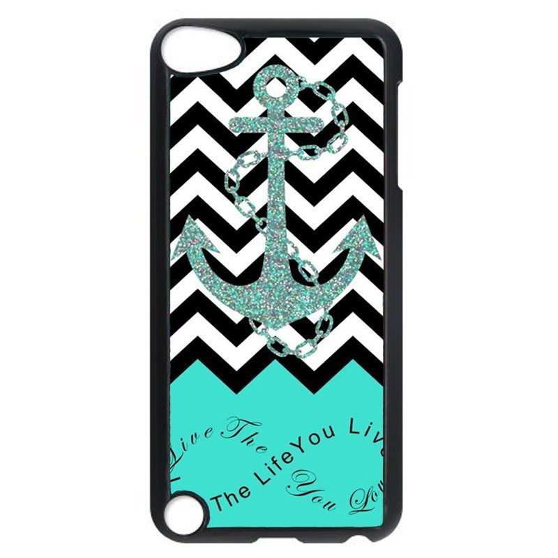 Popular Anchor Phone Case for iPod Touch 5 (Black)