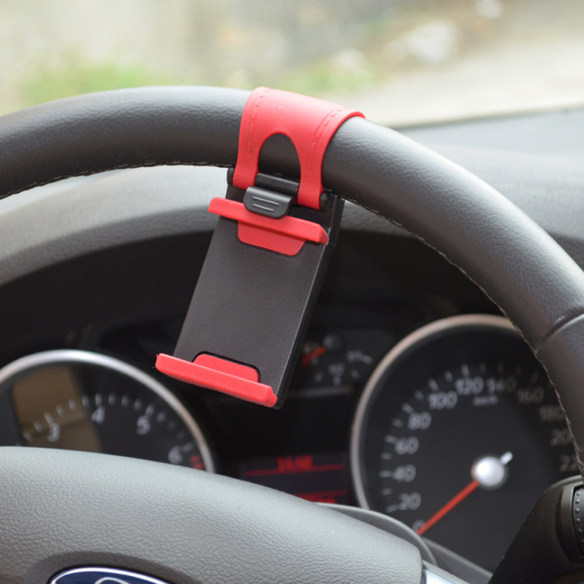Portable Elastic Car Steering Wheel Holder for iPhone 4S 5 5S 5C Smartphone GPS MP4 PDA