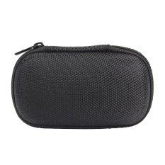 Portable Pocket Storage Bag For Headphone Earphone Earbuds TF SD Card Black