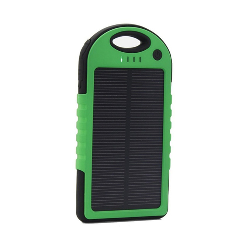 Power Bank Solar - Powerbank Sollar Cell Tenaga Matahari Dual USB - Hijau