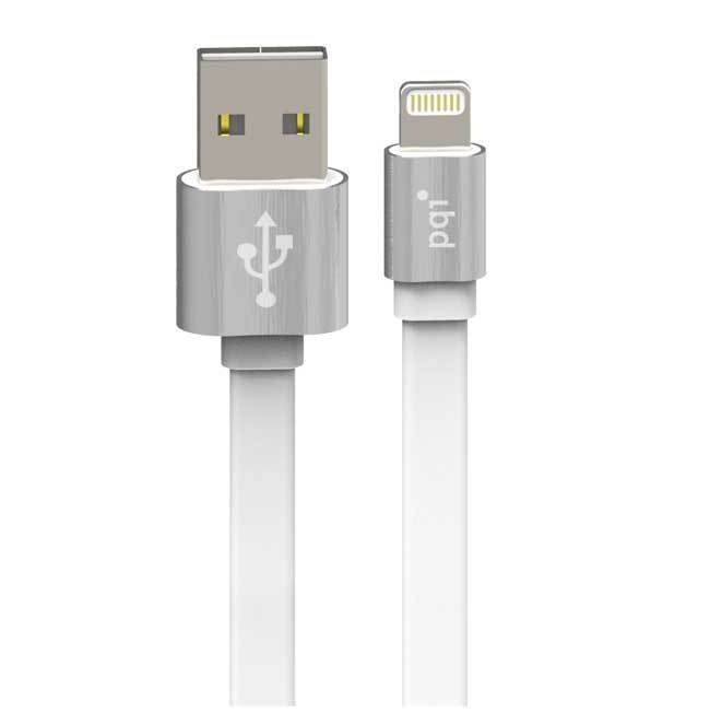 PQI i-Cable Metallic 100 untuk iPhone/Pad/dan iPod - Silver