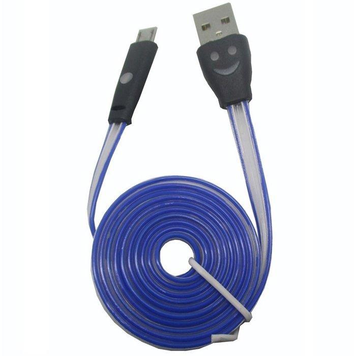 Premium Kabel LED Colour Smile Micro USB
