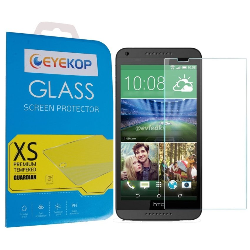 Premium Tempered Glass Film Screen Protector for HTC Desire 816 (Clear)