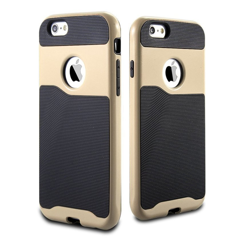 Protective Hybrid Bumper Case for Apple iPhone 6 Plus/6S Plus Gold/Black (Intl)
