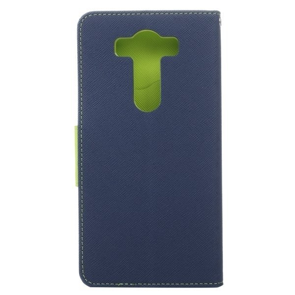 PU Flip Leather Cross Texture Horizontal Cover with Card Slots Wallet Holder for LG V10 (Dark Blue) (Intl)