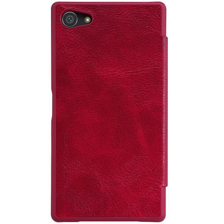 PU Leather Case for Sony Xperia Z5 Compact (Red) (Intl)