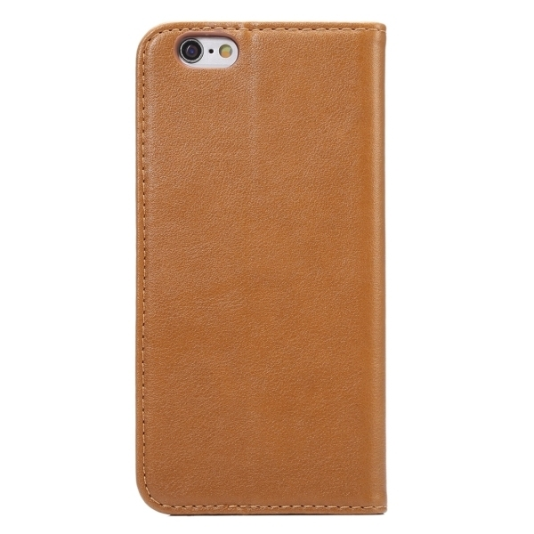 PU Leather Plastic Cover with Card Slots Holder Wallet for iPhone 6 Plus/6S Plus (Brown) (Intl)