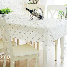 PVC Tablecloth Plastic Cover Dining Coffee Tea Table Waterproof Cloth 100 X 100CM Couple Flower Cream