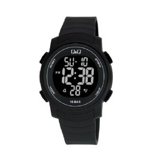 Q&Q Watch Sport Pria - Hitam - Rubber - M122J001Y