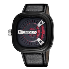 Qooyonq Foreign Selling SkoneSKONE Brand Sports Fashion Men's Luxury Watches Unique Square Dial