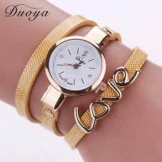 Quartz Watch Women Love Bracelet Wristwatch Fashion Casual Watches Women Style Gold Free Shipping