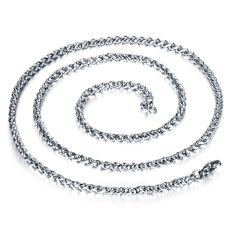 Queen Korea 316L Titanium Steel Women / Men / Unisex Necklace Jewelry Wholesale (Silver) &#8211.4 Mm X 600 Mm