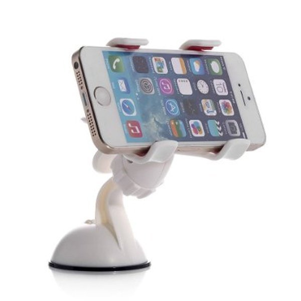 Rajawali Phone Car Holder with Suction-Double Clip- Putih