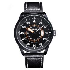 READ 2016 New Luxury Brand Leather Strap Analog Men's Quartz Date Clock Fashion Casual Sports Watches Men Military Wrist Watch - Intl