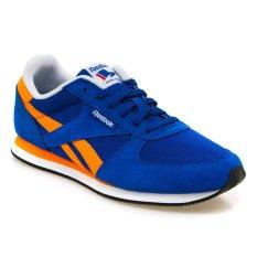 Reebok Royal Classic Jogger Sepatu Lari Pria - Collegiate Navy-Bright Orange-Putih