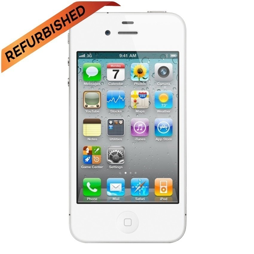 Refurbished Apple iPhone 4 CDMA - 16GB - Putih - Grade A