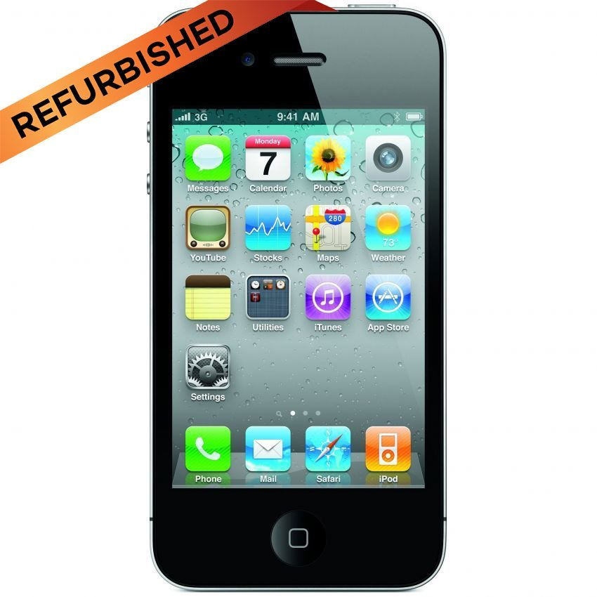 Refurbished Apple iPhone 4S - 64 GB - Hitam - Grade A