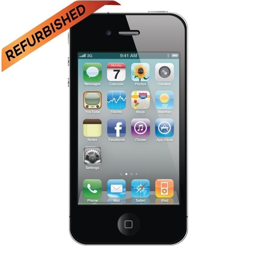 Refurbished Apple iPhone 4S - 8 GB - Hitam - Grade A