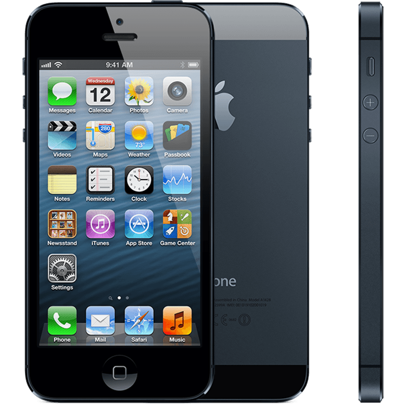 Refurbished Apple iPhone 5 - 16GB - Hitam