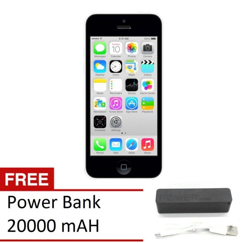 Refurbished Apple iPhone 5C - 32 GB - Putih - Grade A + Gratis Power Bank 20000mAH
