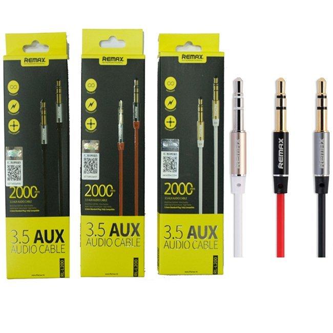 Remax 3.5mm AUX Cable RL-L200 2M - Hitam