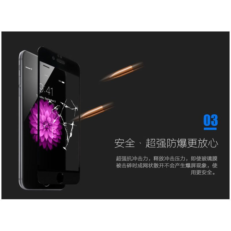 Remax Anti Blue Ray Ultraviolet Proof Tempered Glass 0.15mm for iPhone 6 Plus - Black