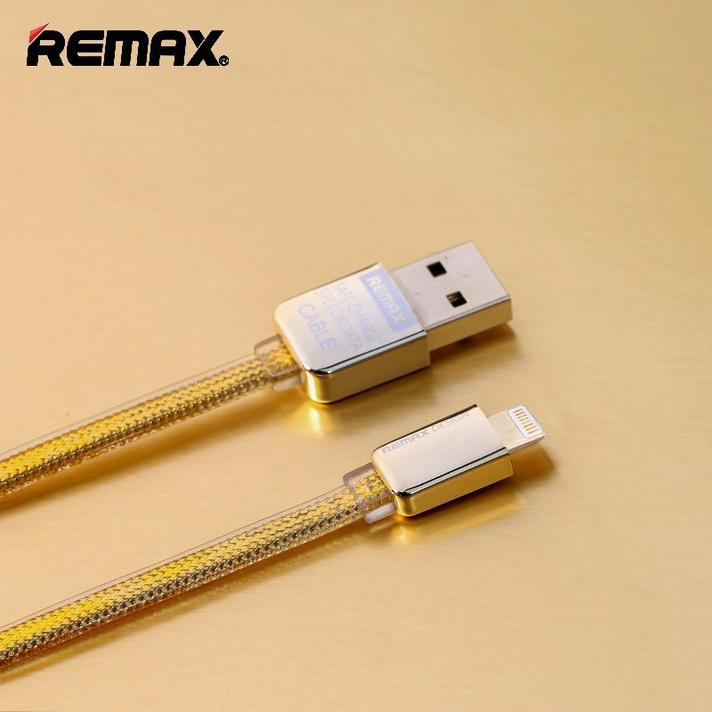 Remax Apple Lightning Cable Kingkong Gold Special Edition Kabel Data - Gold