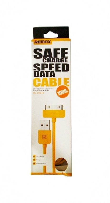 Remax Cable Light Speed for iPhone 4 - Kuning