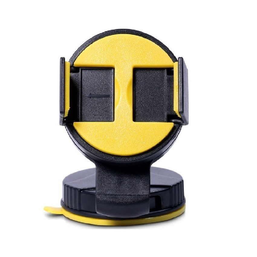 Remax Car Suction Cup Smartphone Holder - Hitam-Kuning