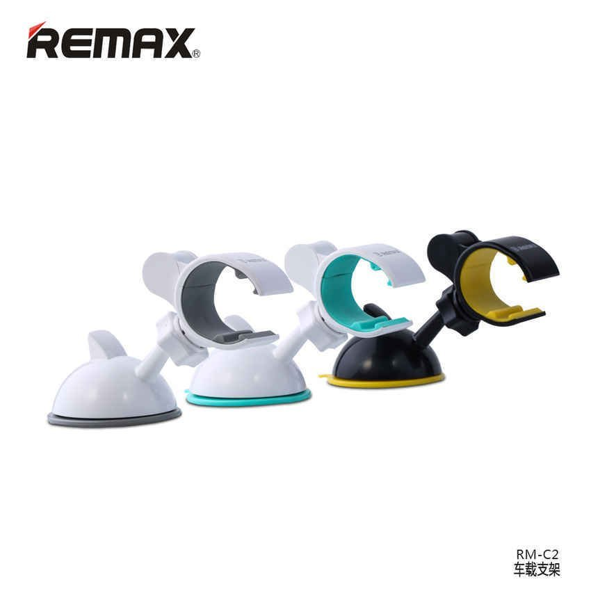 Remax Car Suction Cup Smartphone Holder - RM-C02 - Hitam/Kuning