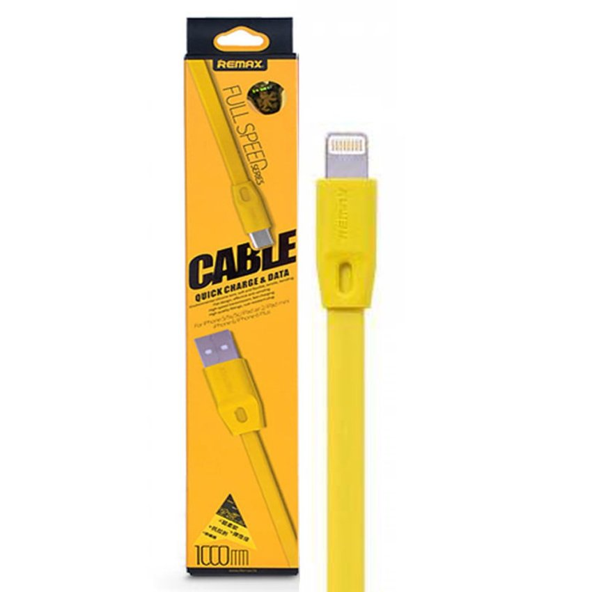 Remax Full Speed Lightning Cable 1M - Kuning