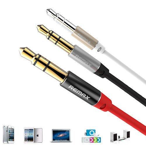 Remax Kabel Audio 2 meter, 3.5mm Aux Jack Cable - Hitam