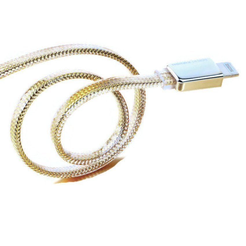 Remax Kingkong Puding Cable Safe & Speed for iPhone 6 - Gold